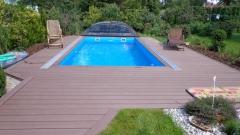 Obložení teras a bazénů